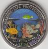 Palau 1 Dollar Farbm�nze 2000  Feuerfisch