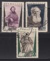 Sowjetunion Mi. Nr. 536 - 538 o  Tolstoj