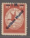 DR Rarit�t Mi. Nr. IV ** Flugpostmarke Gelber Hund