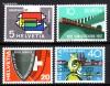 Schweiz Mi. Nr. 637 - 640 Jahresereignisse 1957 **