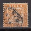 AD Staaten Baden Mi. Nr. 22 a o Wappen 30 Kr