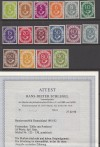 Bund Mi. Nr. 123 - 138 ** Posthornsatz mit Attest