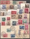 Lot Briefstücke III. Reich mit vielen Spitzen u.a. Nürbergring ( S 1967 )