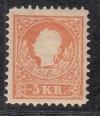 Österreich Mi. Nr. 13 II / I * Kaiser Franz Typ II Rahmen von Typ I