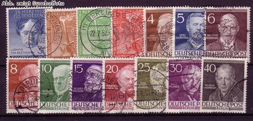 briefmarken berlin 1952 jahrgang gestempelt 1952 berlin briefmarken jahrgang gestempelt. Black Bedroom Furniture Sets. Home Design Ideas