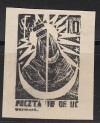 Kriegsgefangenenlagerpost Woldenberg Mi. Nr. 10 (*) Schwarzdruck