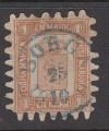 Finnland Mi. Nr. 10 C o  Wappen 1 M finnische Währung Durchstich C
