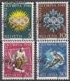 Schweiz Mi. Nr. 492 - 495 Olympische Winterspiele 1948 o