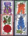 Berlin 1976 Mi. Nr. 524 - 527 o Gartenblumen