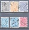 Norwegen Mi. Nr. 11 - 15 mit 14 a/b o Wappen