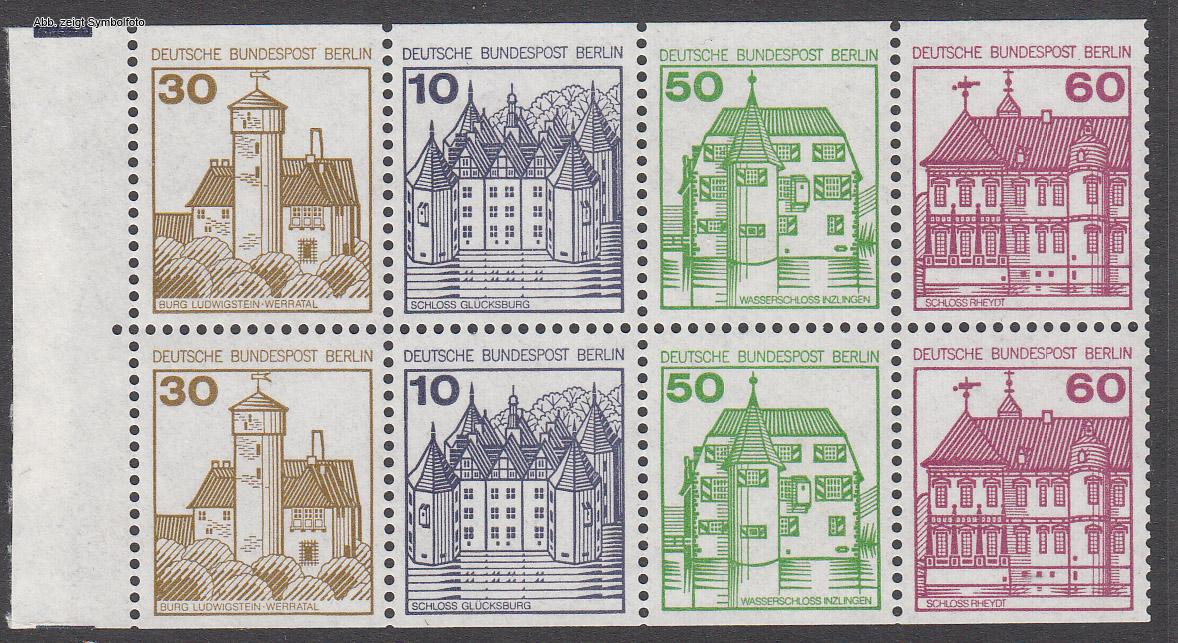 briefmarken berlin markenheftchenblatt michel nr 20 postfrisch g nstig kaufen im briefmarken. Black Bedroom Furniture Sets. Home Design Ideas