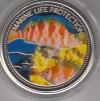 Palau 1$ Farbm�nze 2006  B�schel Barsch