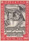 DR Postkarte Opfertag 1940 gelaufen mit Frankatur und SStp. ( K 45 )