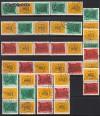 DDR Zdr. v. Mi. Nr. 1012 - 1013 Messe 1964 kompl. 16 Zdr. o