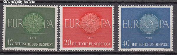 Briefmarken Bund Michel Nr 337 339 Postfrisch Europa 1960 Günstig