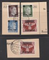 Besetzung II. WK Kurland Mi. Nr. 1 � 4 A/B o Postkartenst�cke