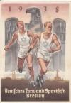 DR Postkarte Sportfest Breslau echt gelaufen SStp. ( K 67 )