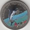 Palau 1$ Farbm�nze 2000  Blauer Marlin