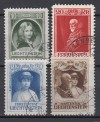 Liechtenstein Mi. Nr. 90 - 93  Regierungsantritt Franz I o