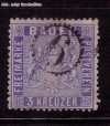 AD Staaten Baden Mi. Nr. 10 c o Wappen 3 Kreuzer