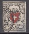 Schweiz Michel Nr. 6 I o  POSTE LOCALE 2 1/2 Rp