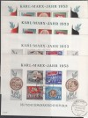 DDR Block 8/9 A/B o Tagesstempel alle 4 Marx Blöcke Sonderpreis