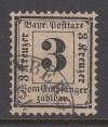 AD Bayern Portomarke Mi. Nr. 3 X o 3 Kr. Ziffer im Rechteck