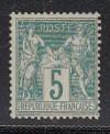 Frankreich Mi. Nr. 59 Typ I * Allegorien 5 C