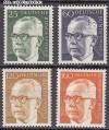 Bund Mi. Nr. 689 - 692 ** Gustav Heinemann II