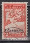Feldpost Ausgaben für Italien Mi. Nr. 24 o Eilmarke