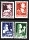 Österreich Mi. Nr. 929 - 932 Glückliche Kindheit 1949 **