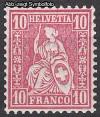 Schweiz Mi. Nr. 38 Sitzende Helvetia Faserpapier *