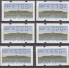 Bund ATM Satz Schloss Sanssouci Mi. 2.1.1 VS 3**