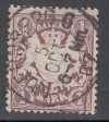 AD Bayern Mi. Nr. 53 yb o Staatswappen 1 Mark  Wz 3