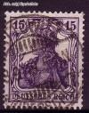 DR Mi. Nr. 101 a o Freimarke Germania 15 Pf. Wz 1
