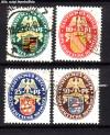 DR Mi. Nr. 398 - 401 o Nothilfe 1926 Wappen